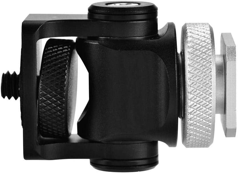 Hot Shoe Mount Monitorhalter 1//4  Schraube Kamera Zubeh/ör Kompatibel mit Monitor Mikrofon Yosoo Health Gear Hot Shoe Mount Halter Blitz