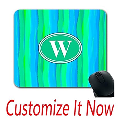 create mouse pad blue computer mouse pad green create most comfortable stripes print initial amazoncom