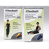 Theraband Latex Free Active Recovery Kits, Blue/Black, Advance (5 Ft Bands)