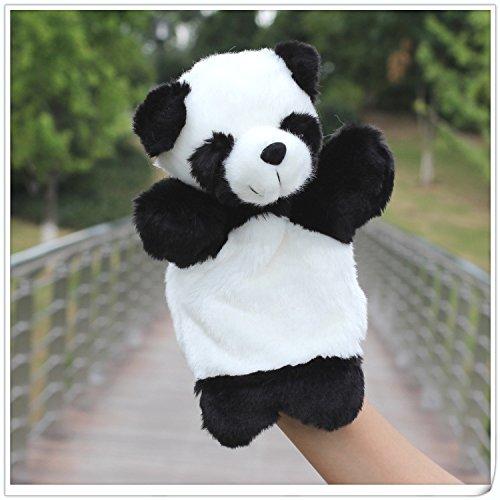 (Hand Puppet Panda, Soft Plush Cute Stuffed Full Body Toys Hand Finger Animal Puppet for Boys Girls Babies Toddlers)