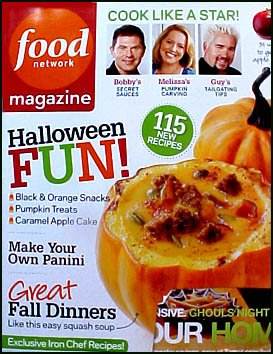 Food Network Magazine October 2010 Halloween Fun! Black & Orange Snacks, Pumpkin Treats, 500 Panini Recipes -