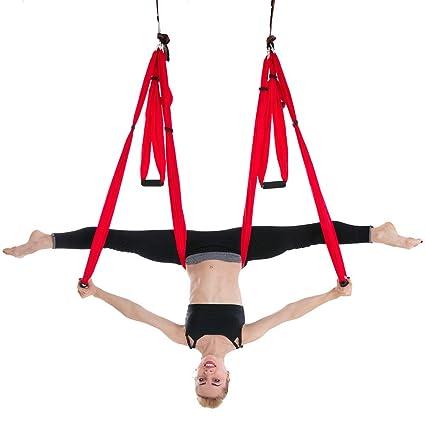 0cb23c74d Amazon.com   AFfeco Premium Aerial Silk Fabric Yoga Swing for ...