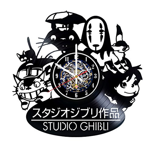 Anime Characters Hero Design Vinyl Record Wall Clock - Get Unique Room Wall Decor - Gift Ideas For Boys and Girls - Original...