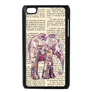 Newspaper Elephant Music Note and Elephant TPU Covers Cases Accessories for Apple iPod Touch 4