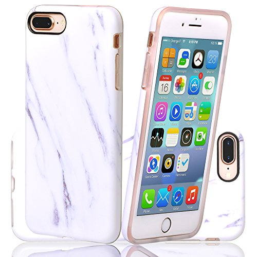 iPhone 7 Plus Case,iPhone 8 Plus Case White Marble Design, Dzung Rank#1763