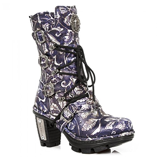 New Rock Boots M.neotr005-s39 Gotico Hardrock Punk Damen Stiefel Lila