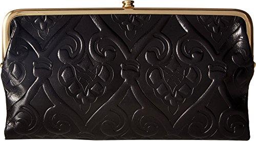 Hobo Womens Lauren Vintage Wallet Clutch Purse (Embossed Black)