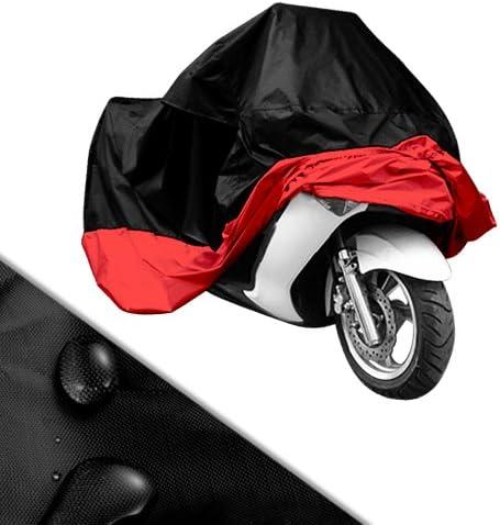Nero, XL Motociclo ciclomotore motorino copertura impermeabile pioggia polvere Prevenzione antipolvere copertura Telo Coprimoto Copri Scooter Moto Impermeabile Antipolveri