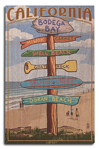 Bodega Bay, California - Destinations Sign (10x15 Wood Wall Sign, Wall Decor Ready to Hang)