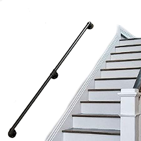 YERT- Barandilla de Tubo, barandilla de Escalera de Estilo Industrial, barandilla Antideslizante, barandilla para niños Mayores de Interior montada en la Pared, Adecuada para ático, balcón, 1-10ft (: Amazon.es: Hogar
