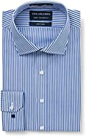 Van Heusen Men's Euro Fit Shirt Stripe, Navy, 38