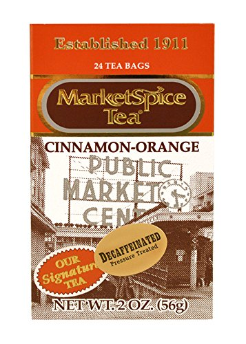 - MarketSpice Decaf Teabags, box of 24
