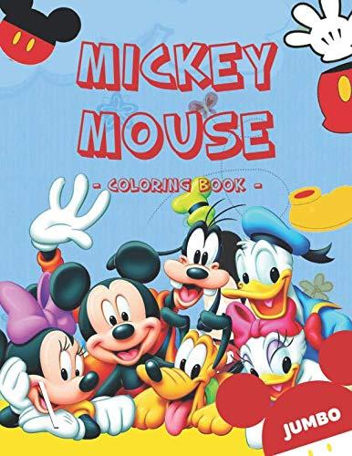 Mickey Mouse Coloring Book: Disney Jumbo Mickey Mouse Coloring Book For Toddlers With High Quality ()