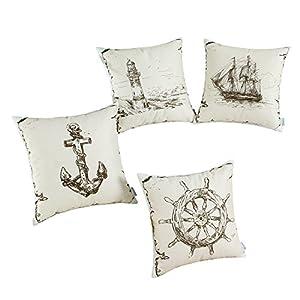 515ltpeVRZL._SS300_ 100+ Nautical Pillows & Nautical Pillow Covers