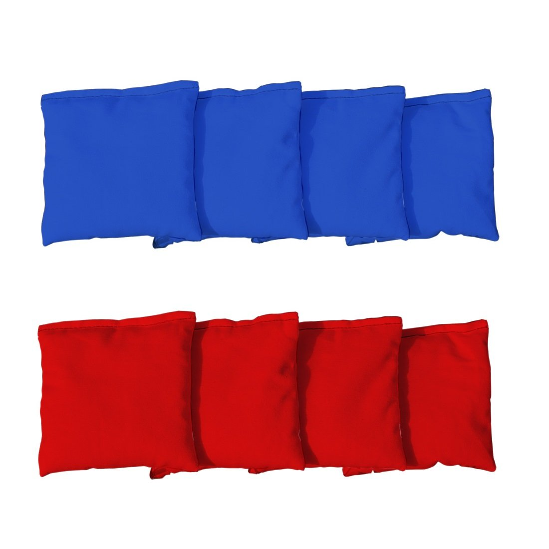Victory Tailgate (8 Regulation Duck Cloth Cornhole Bags - Whole Kernel Corn Fill Tote Bag (4 Red & 4 Royal Blue)