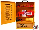 Brady Combined Lockout And Lock Box Station, Legend ''Safety Lockout Center'', Includes 6 Steel Padlocks