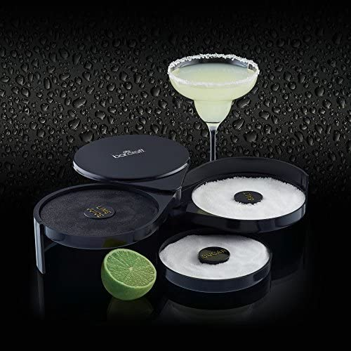 Kitchen Craft BCRIMMER Barcraft 3 in 1 Cocktailglas Umrander, Plastik, schwarz, 20,3 x 16 x 7,5 cm