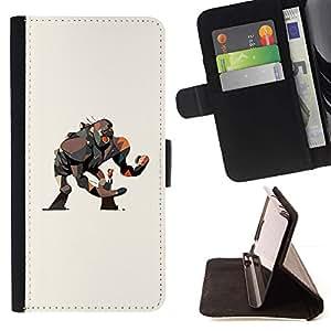 Momo Phone Case / Flip Funda de Cuero Case Cover - Dibujo Mono Gorila gran película Girl Art - Sony Xperia Z5 5.2 Inch (Not for Z5 Premium 5.5 Inch)