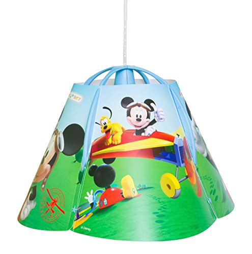 Disney mickey mouse clubhouse children kids ceiling pendant light disney mickey mouse clubhouse children kids ceiling pendant light lamp shade lampshade complete fittings amazon lighting aloadofball Gallery