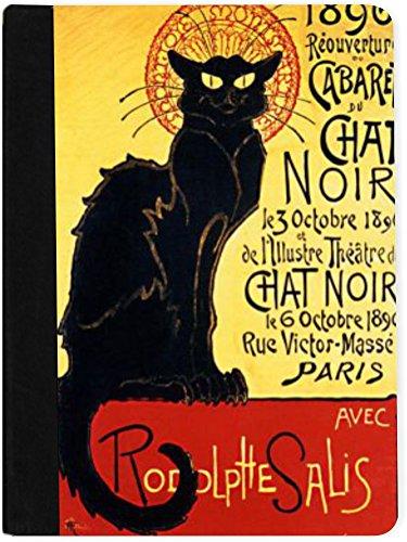 Rikki Knight La Chat Noir Faux Suede Notebook Binder Port...