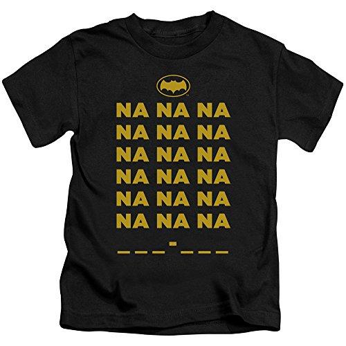 Batman Classic Tv Na Na Na Unisex Youth Juvenile T-Shirt for Girls and Boys, Small (4) Black (Na Na Na Na Batman T Shirt)