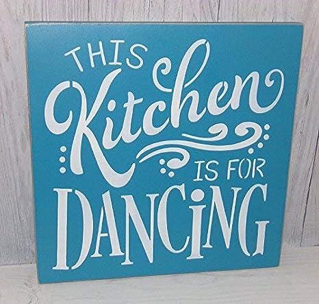 Amazon.com: Weewen Esta cocina es para bailar, turquesa ...