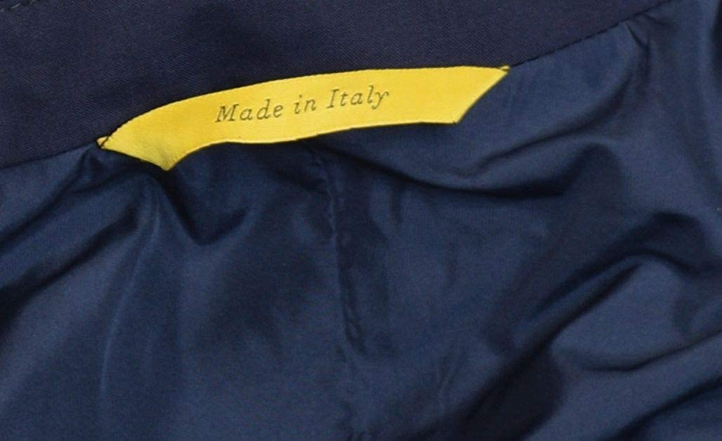 Canali Mens Wool Rain and Wind Tech Coat Made in Italy EU 48R US 38R Navy