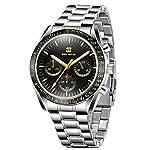Men's Watches Fashion Business Stainless Steel Analog Quartz Watch Multifunction Chronograph Minimalist Waterproof Wrist…