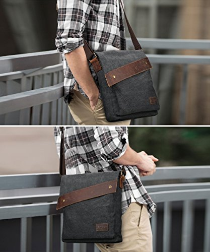 Single S Business Messenger Ipad Bag Vintage Crazy For Men Leather Bag Satchel Horse Fit Travel Shoulder Retro zone Briefcase Canvas Leisure Laptop Multi Students function z6Orwz