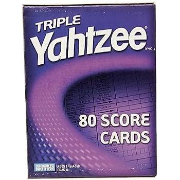 Amazon Com 250 Triple Yahtzee Score Sheets Pads Cards Toys Games