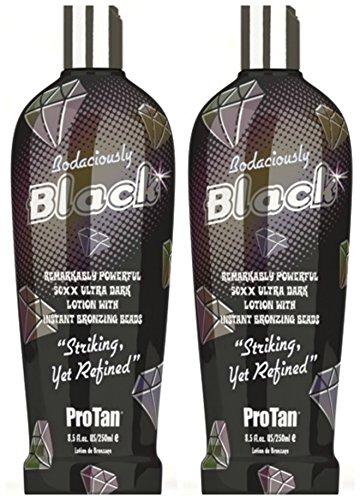 2 X Pro Tan Bodaciously Black 250ml Bottles Sunbed Lotion Cream Tanning Sun (Pro Sun Tanning Beds)