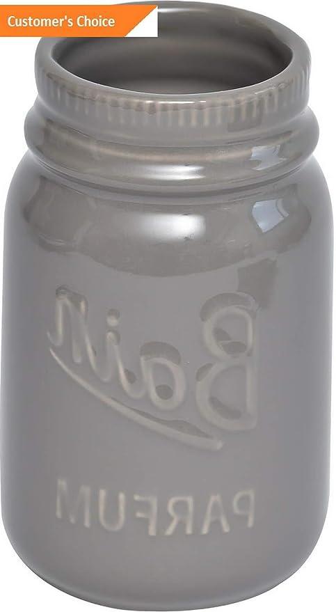 Amazon.com: Hebel Mason Jar Collection Bathroom Accessory ...