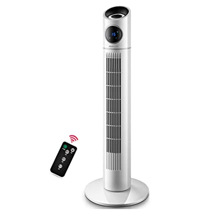 Tower Cooling Fan Oscillating Control Quiet With Remote 15 Hour Timing For  Bedroom Living Room