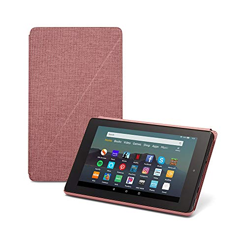 Fire 7 Essentials Bundle including Fire 7 Tablet (Plum, 32GB), Amazon Standing Case (Plum), and Nupro Anti-Glare Screen Protector