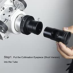 Solomark Collimation Eyepiece for Newtonian Telescopes and Refractors - Cheshire 1.25\