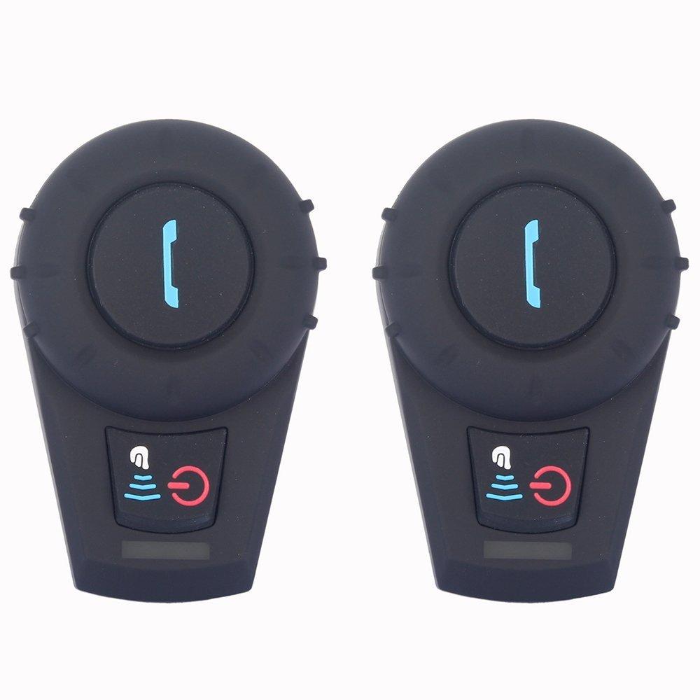 Intercomunicador Moto Auriculares Inalámbricos Dual Estéreo de Cascos Bluetooth Motocicleta Interfono Intercom
