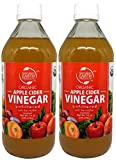 Natural Earth Organic Apple Cider Vinegar With The Mother - 100% USDA Organic - Raw, Unfiltered And Unpasteurized - Certified Kosher - 2 Pack of 16 Fl. Oz