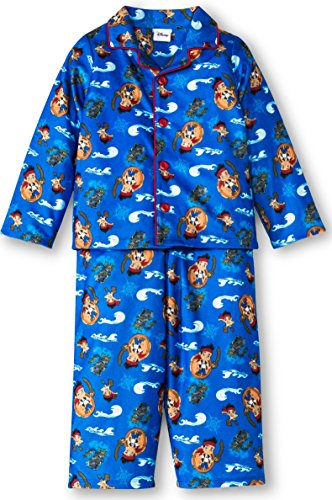 [Jake And The Never Land Pirates Toddler Boys Pajama Set , Size 2T] (Authentic Pirate Coats)