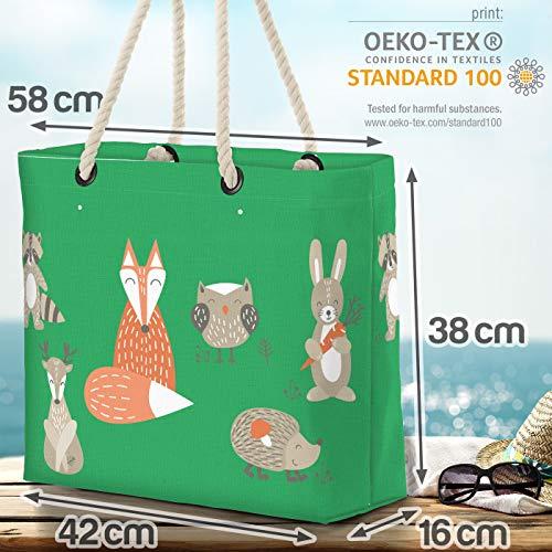 VOID skogsdjur barn räv strandväska Shopper 58 x 38 x 16 cm 23 L XXL shoppingväska väska resväska Beach Bag