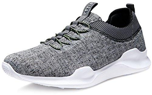 Tesla TF-E734-GRY_Men 9.5 D(M) Unisex Knit Design Running Walking Sneakers Performance Shoes E734 by Tesla