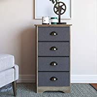 Nathan James 78801 Calvin Antique Brown Bedroom Dresser Storage, Dry Charcoal