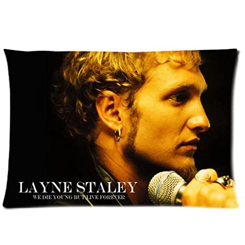 Layne Stanley Alice In Chains Rock Band Custom Pillowcase Cover Two Side Picture Size 16x24 Inch (Alice In Chains Button)