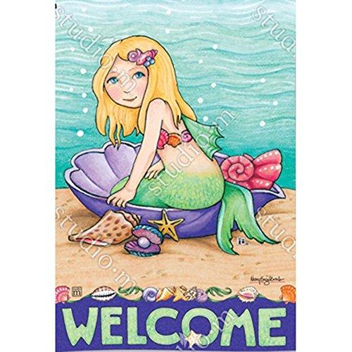 Magnet Works Garden Flag - Mermaids Welcome]()