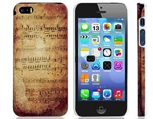 Vintage Music Score Print Funda protectora de plástico para el iPhone 5/5S
