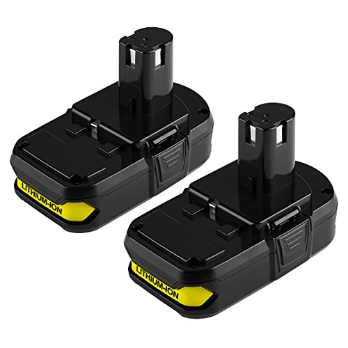 Powilling 2Pack 2500mAh Ryobi 18V Lithium Battery Pack Replacement for Ryobi 18-Volt ONE+ P104 P105 P102 P103 P107 Cordless Tools - 2 Day Shipping Arrive When Will
