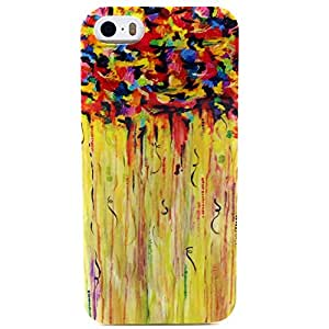 iPhone 5 Case,Zupro Fashion Style Colorful Painted Clear Frame Thin Soft TPU Protective Skin Case Cover for Apple iphone 5/5s,Abstract painting