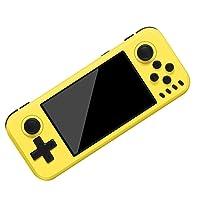NZYMD Handheld Game Console Portable Video Game Console 4 Inch 10000 Classic Retro Game Console Support Emulator MAME/FC/GB/GBA/GBC/MD/SFC/PS1/N64/PSP/3DS/ATAR 12600/ATARI 7800,Yellow
