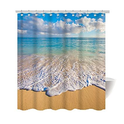 Amazon Gwein Beautiful Hawaiian Beach Shower Curtain Polyester