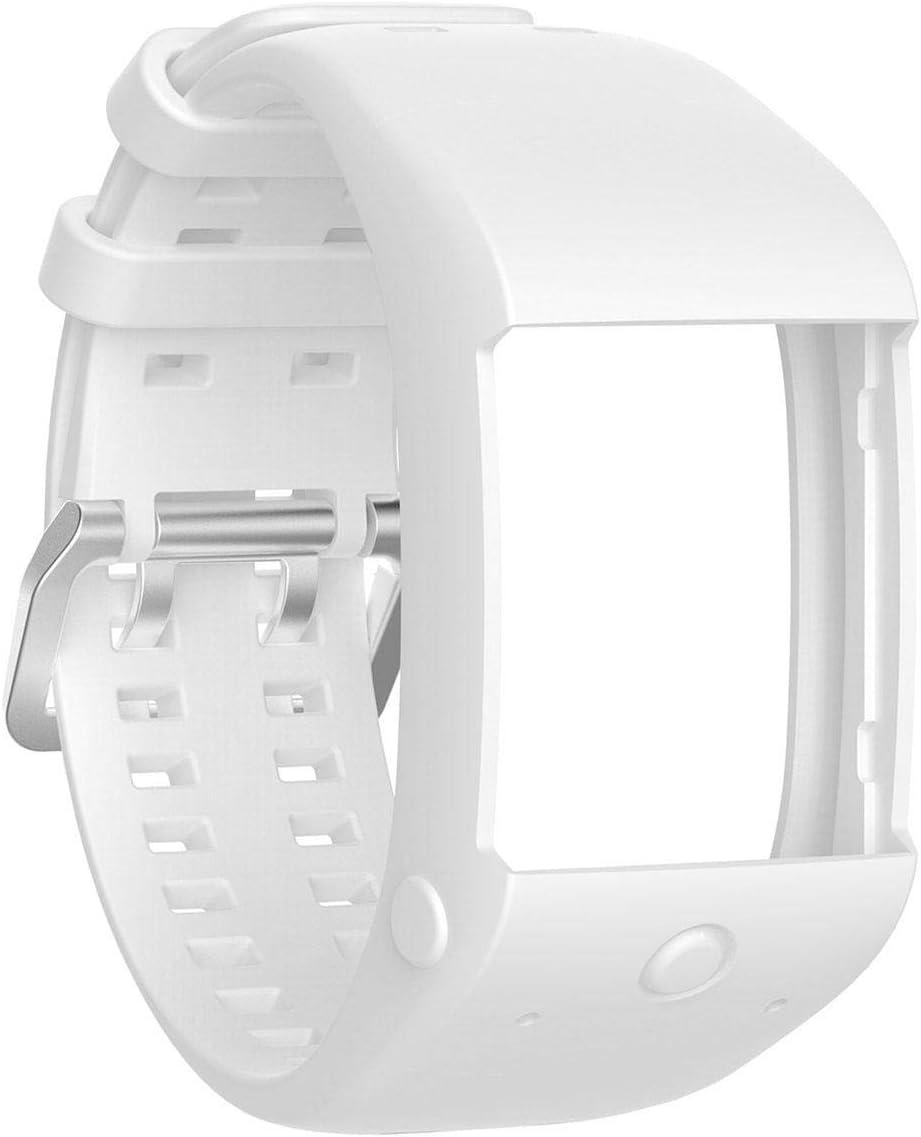Bandas para correa de muñeca Polar M600, Teepao suave de silicona, correa deportiva compatible con Polar M600 GPS Smart reloj deportivo, blanco: Amazon.es: Deportes y aire libre