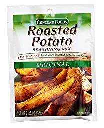 Concord Roasted Potato Original Seasoning Mix, 1.25 Oz (Pack of 6)